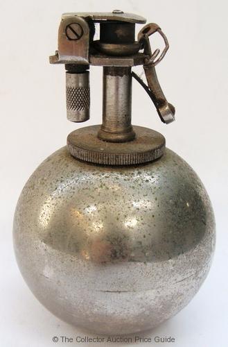 Vintage Chrome Grenade Fuel Cigarette Lighter Sold For