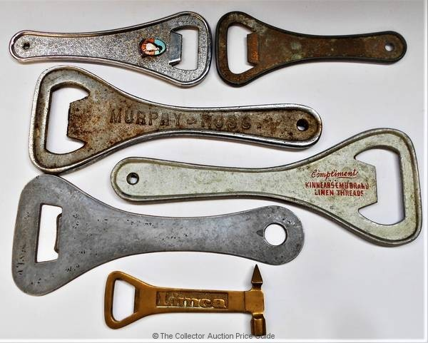 Group Of Vintage Advertising Lever Bottle Openers