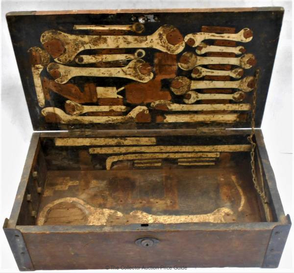 C1920s Napier Lion Aircraft Engine Tool Box With Tool