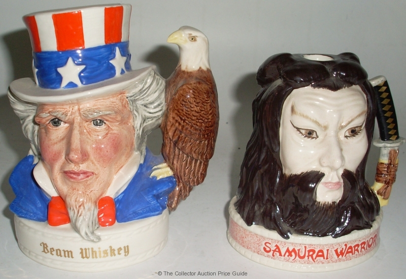 2 X Royal Doulton Liquor Containers Jim Beam Samurai