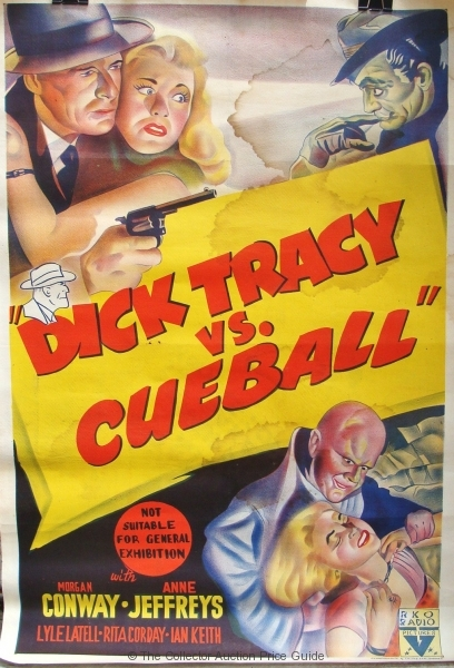 Image result for dick tracy cueball australian poster